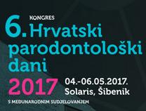6. Kongres - Hrvatski parodontološki dani 2017 - s međunarodnim sudjelovanjem. 04. - 06.05.2017 Solaris, Šibenik