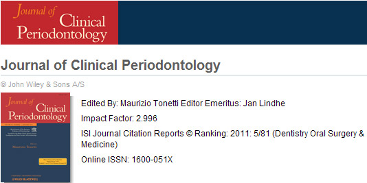 Journal of Clinical Periodontology
